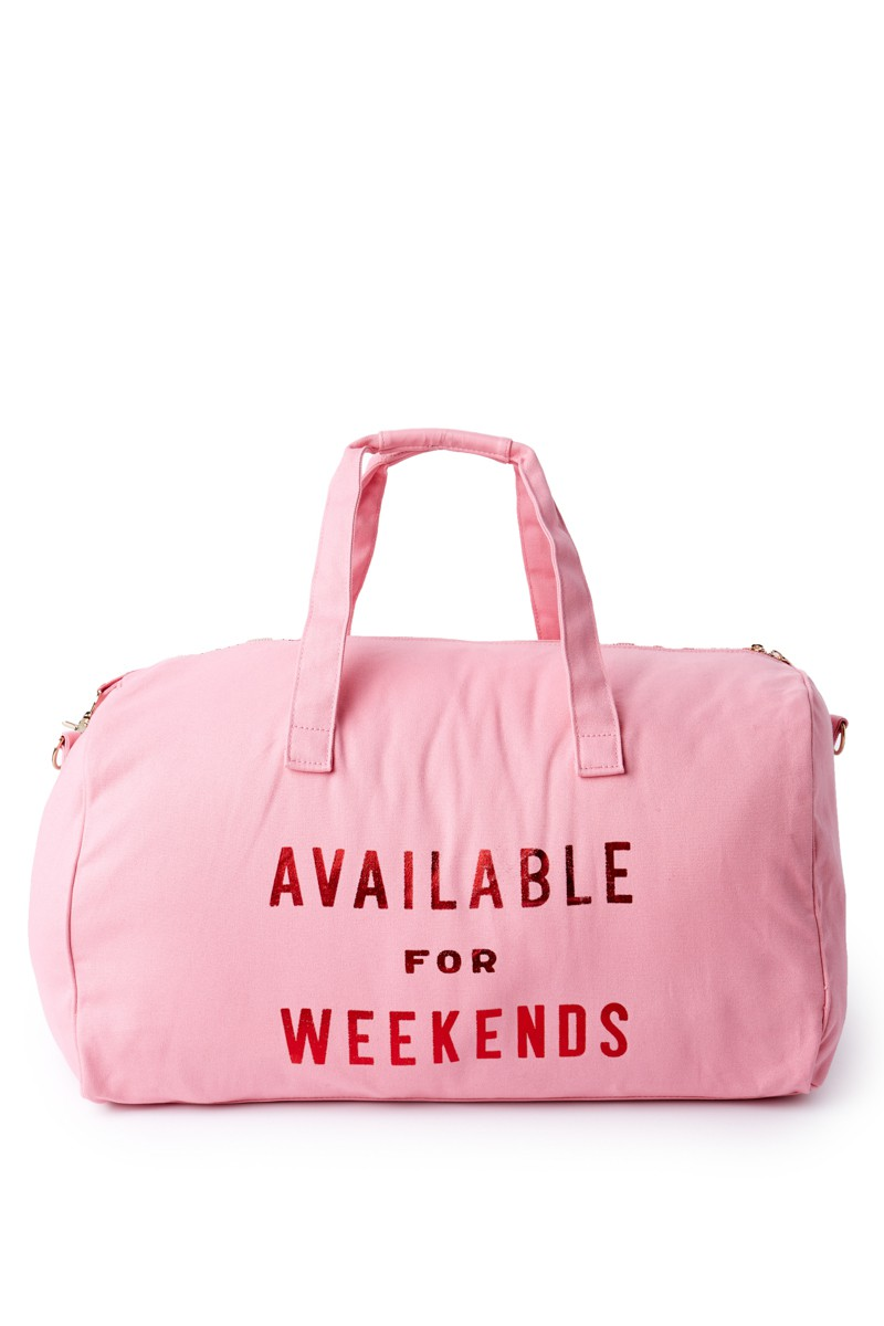 Available for Weekends weekend getaway bag featured in Holiday Gift Guide: Something for Everyone on Your List by guest poster the Red Dress Boutique on Diary of a Debutante