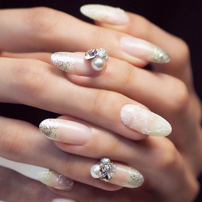 Luxury Nails with Pearl Beads picture 2