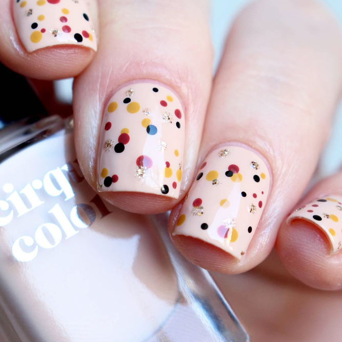 Cute Nail Designs with Dotted Patterns picture 2