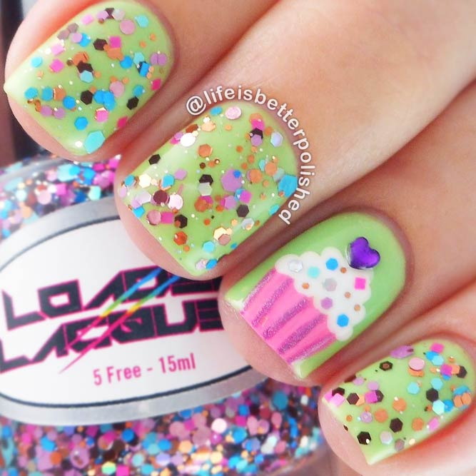 Cupcake Nail Art Designs picture 2