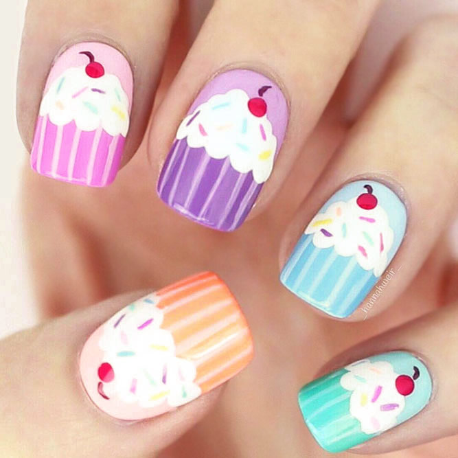 Cupcake Nail Art Designs picture 1