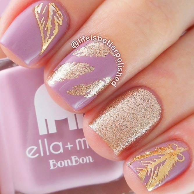 Cute Nail Designs with Sweet Feathers picture 2