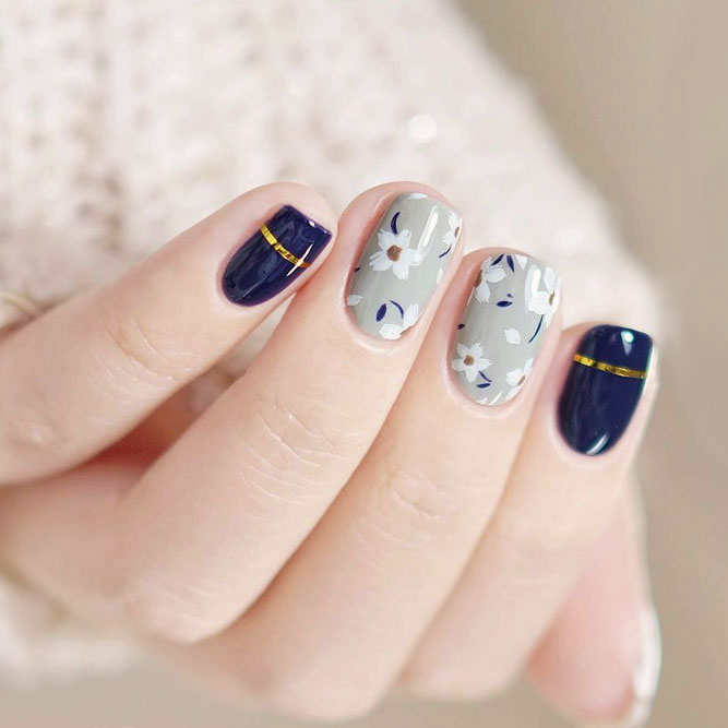 Cute Nail Designs with Fragile Flowers picture 3