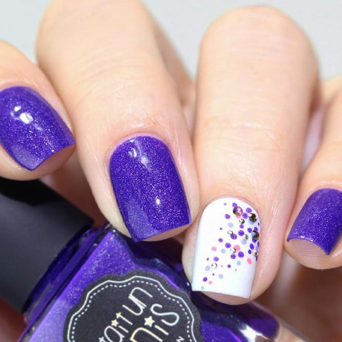 Cute Nail Designs with Dotted Patterns picture 3