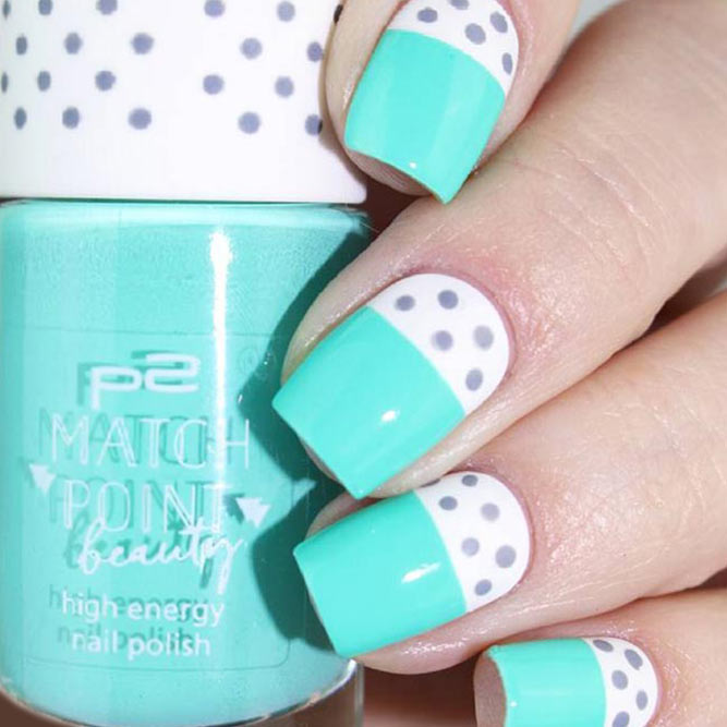 Cute Nail Designs with Dotted Patterns picture 1
