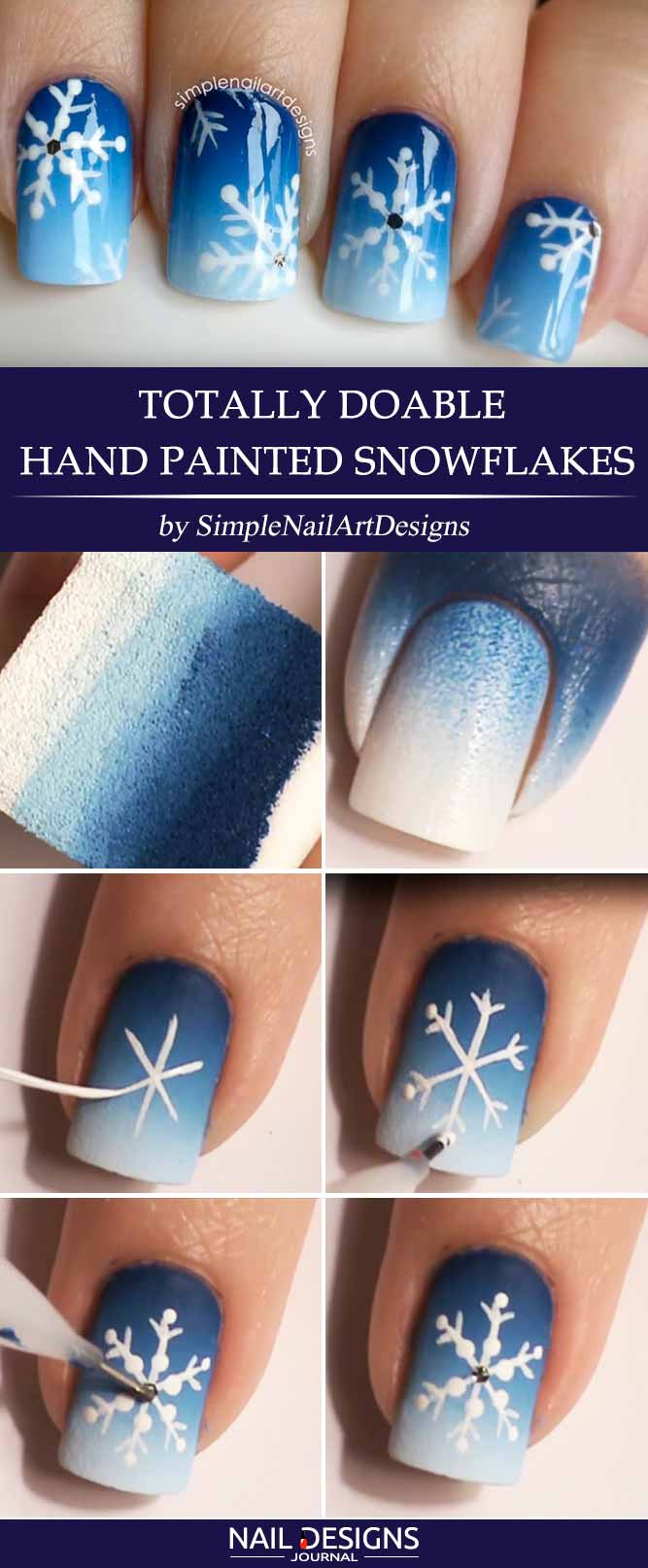 Totally Doable Hand Painted Snowflakes