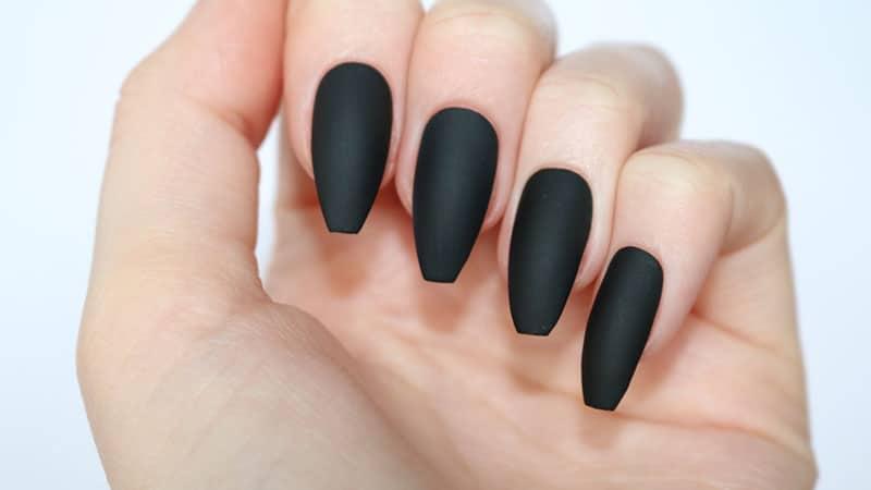 Black Coffin Nails