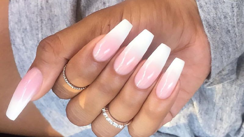 Coffin Shaped Acrylic Nails