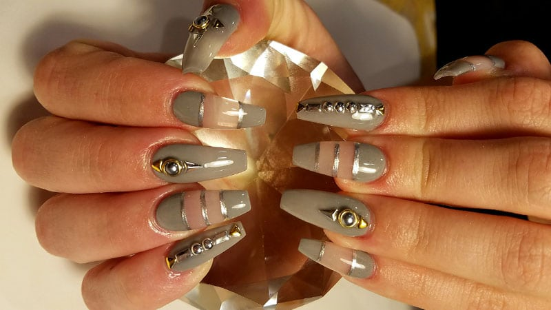 Clear Coffin Nails Designs