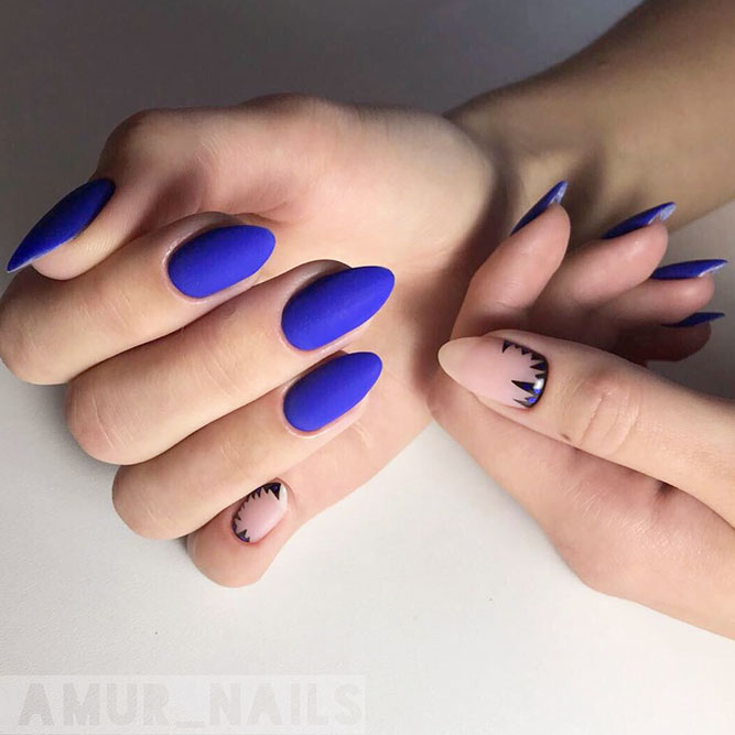 Cobalt Blue Nail Art To Break The Routine