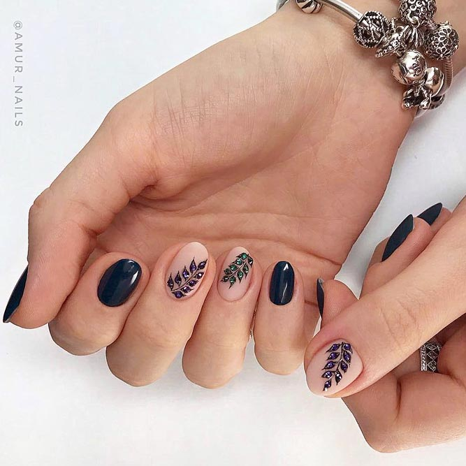 Adorned Nail Design For Short Nails