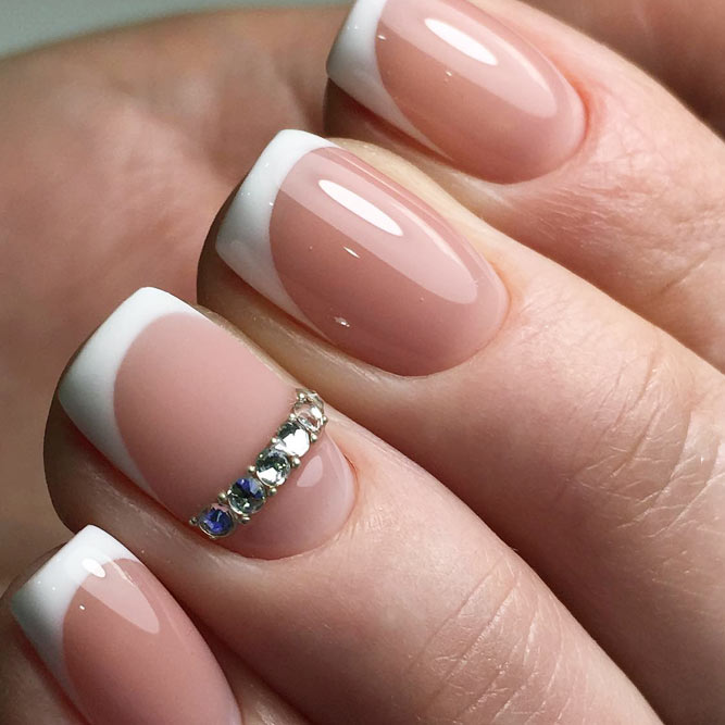 Classy Nails With French Tips