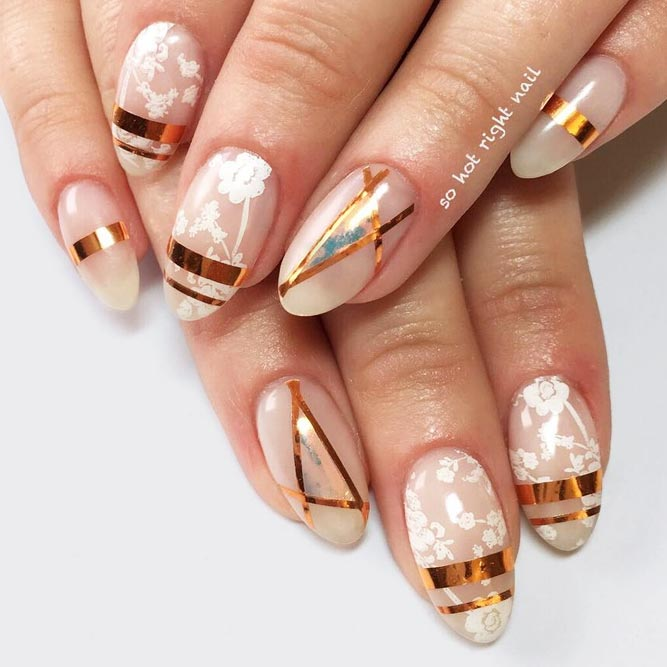 Manicure Ideas With Foil Stripes To Inspired You picture 1