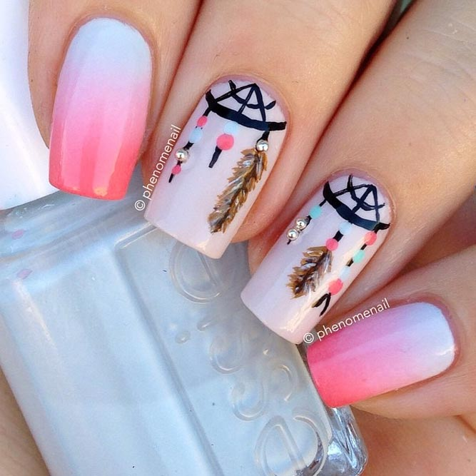 Dream Cather Nails In Sweet Pink Color picture 3