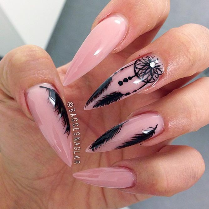 Dream Catcher Charming Nails Using Nude Colors picture 2