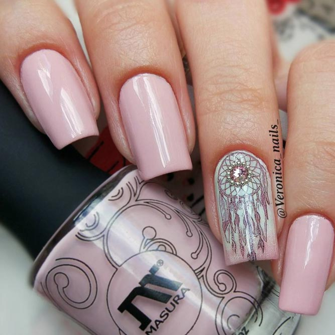 Dream Cather Nails In Sweet Pink Color picture 2