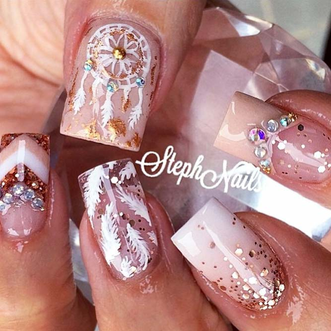 Dream Catcher Charming Nails Using Nude Colors picture 3