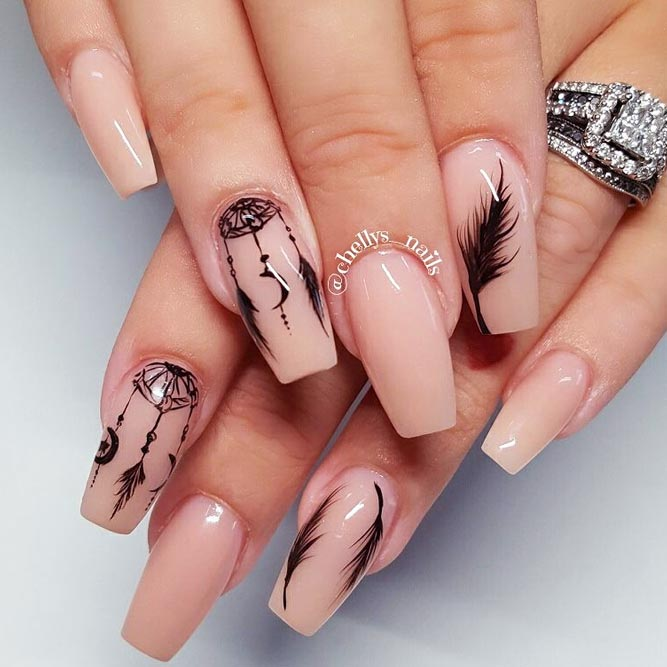 Dream Catcher Charming Nails Using Nude Colors picture 1