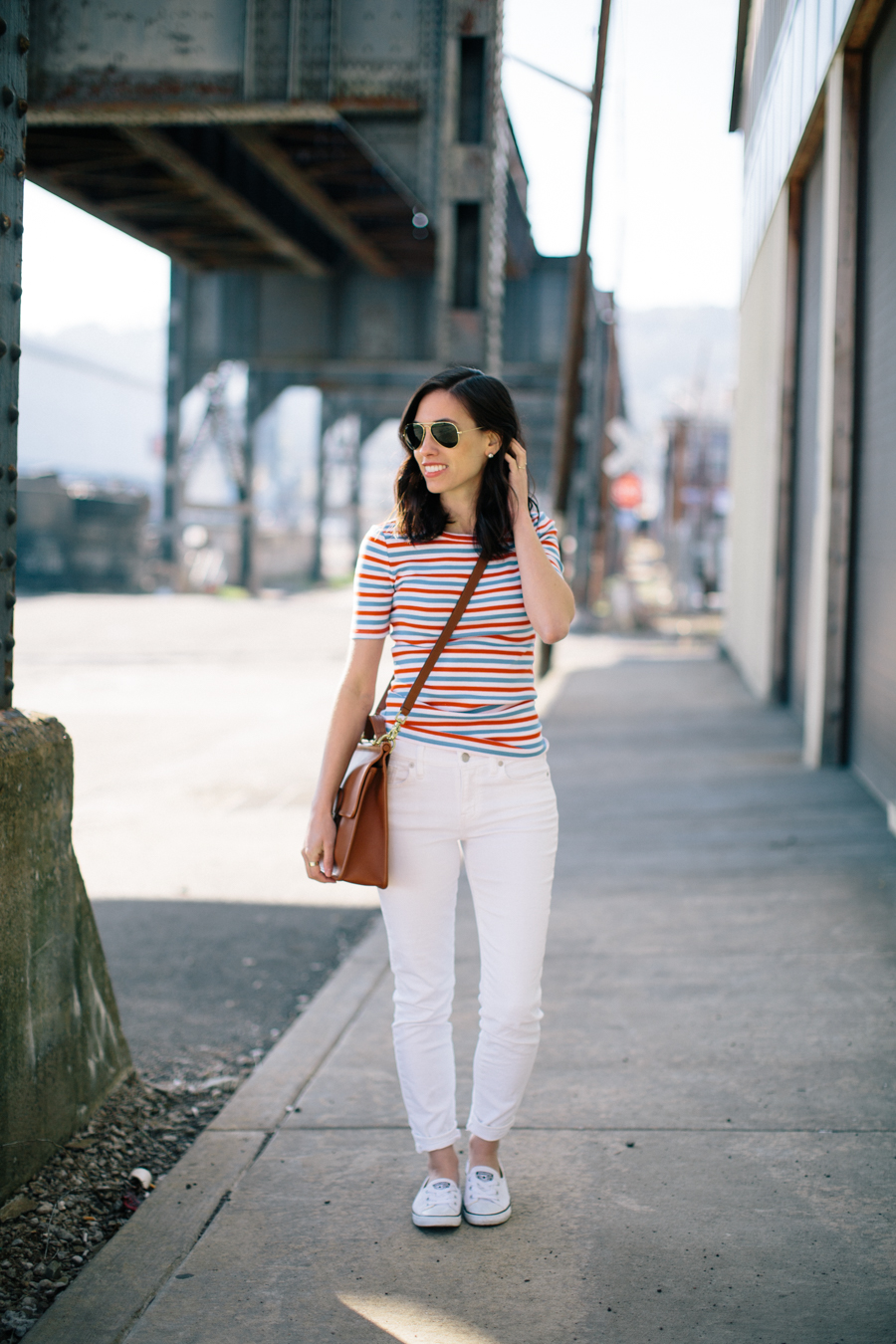 jcrew striped perfect tshirt-@wellesleynking-wellesley and king-pittsburgh blogger
