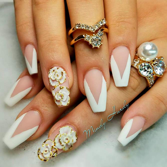 Gorgeous 3-D Floral Nail Art picture 1