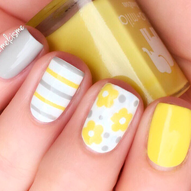 Easy Polka Dots Yellow Daisies