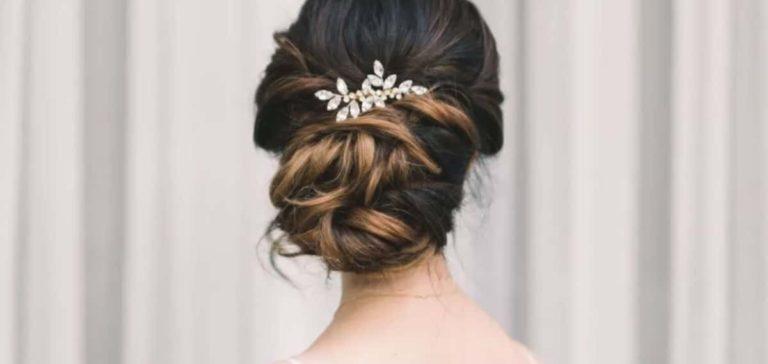 Formal Braided Bridal Shower Updo