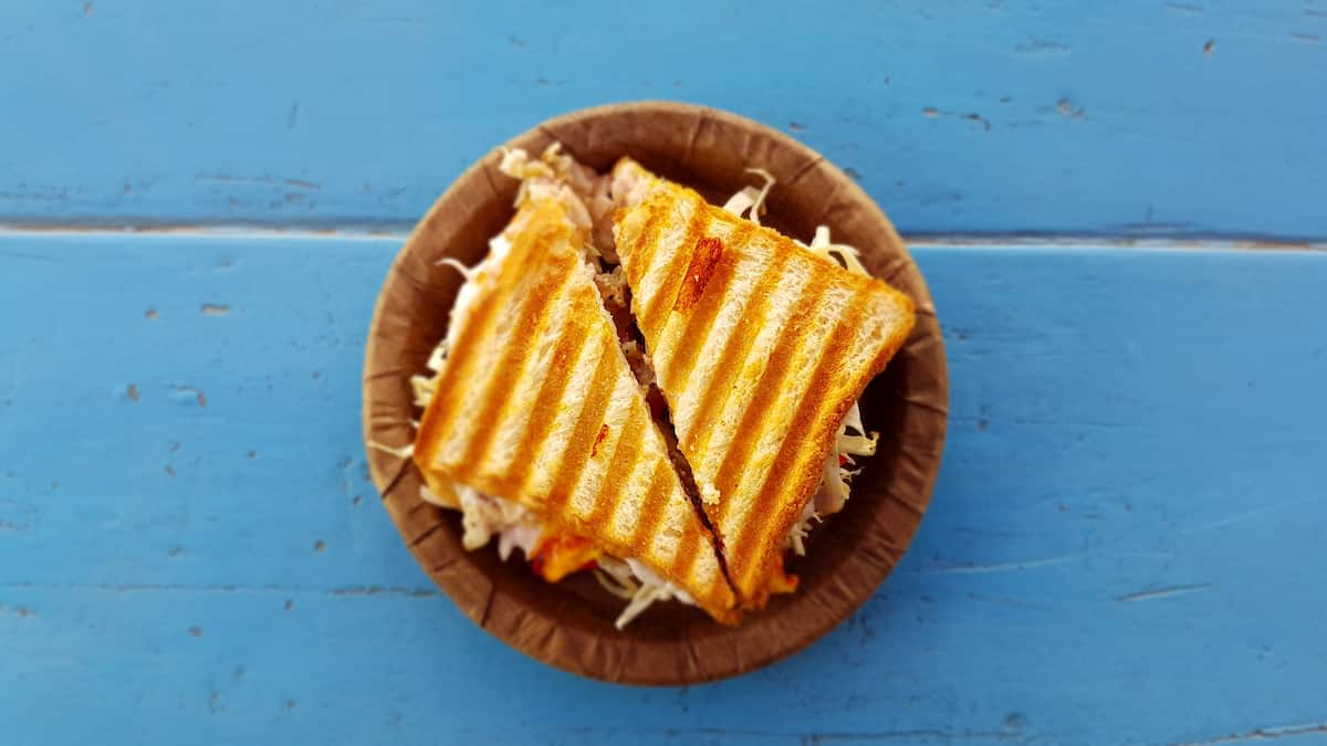 Easy Cheesy Ham Paninis and Oven Fries