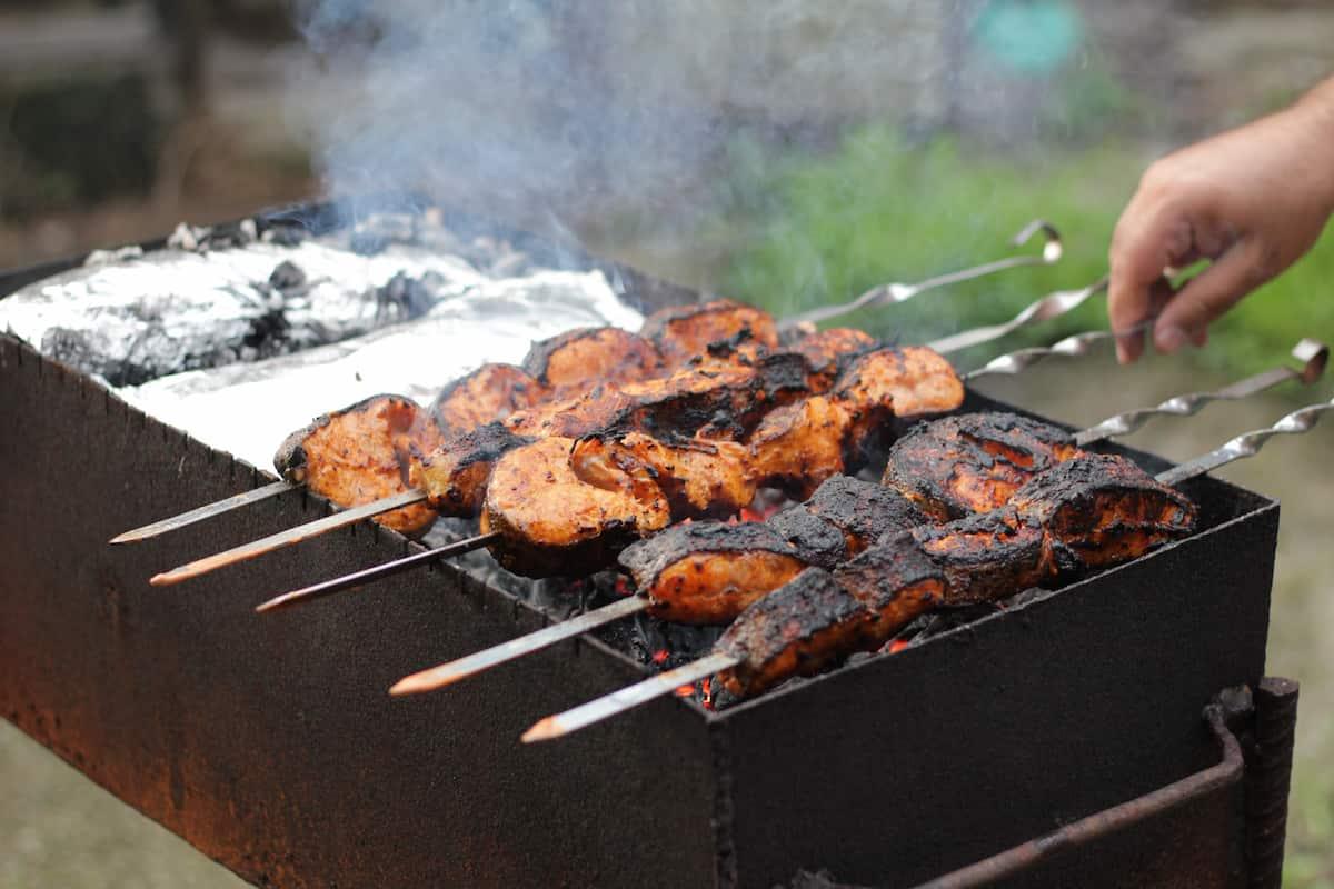 Shrimp (or steak) Kebabs
